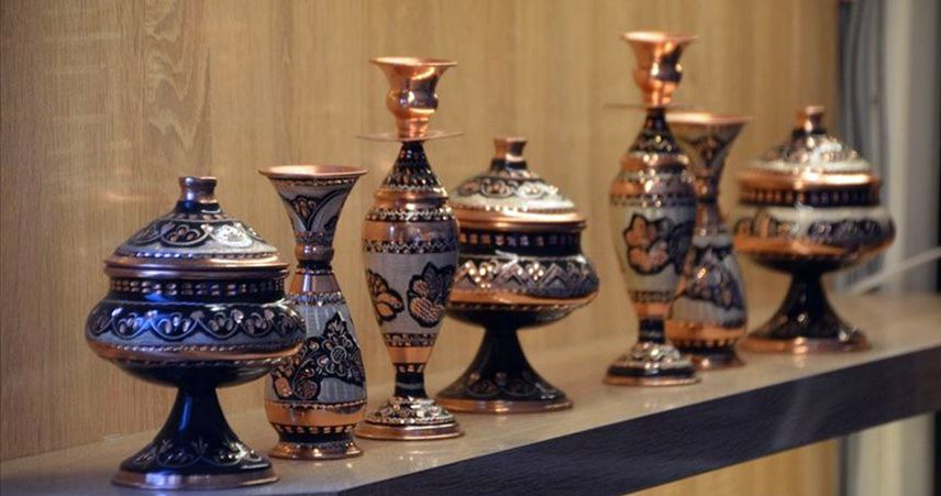 Kahramanmaraş'ın el işi bakırları yurt dışına açıldı