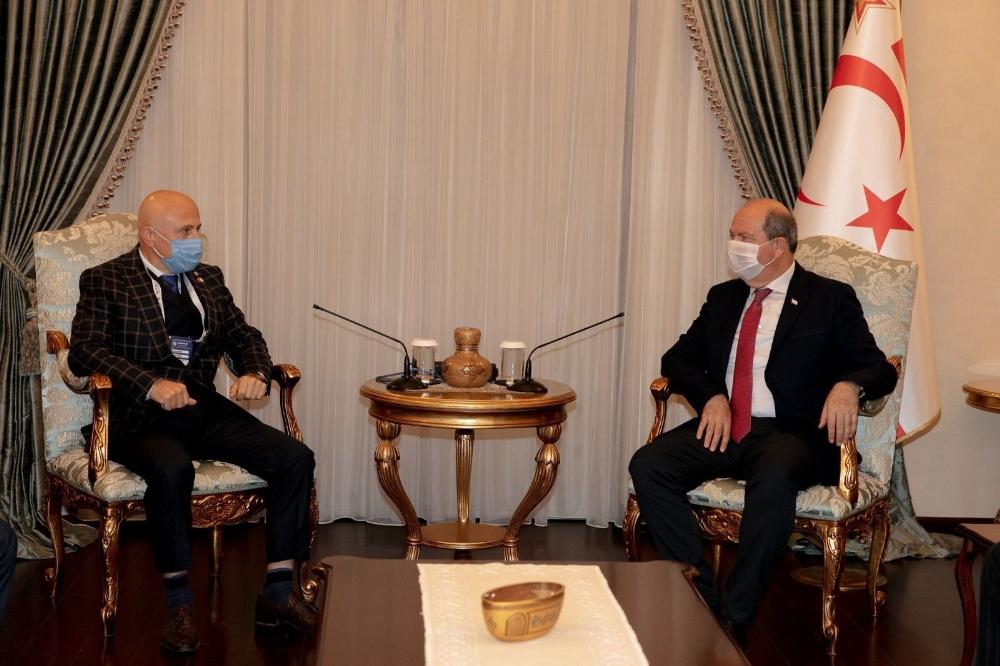 KKTC Cumhurbaşkanı Tatar, İstanbul Sanayicileri ve İş Adamları Derneği heyetini kabul etti