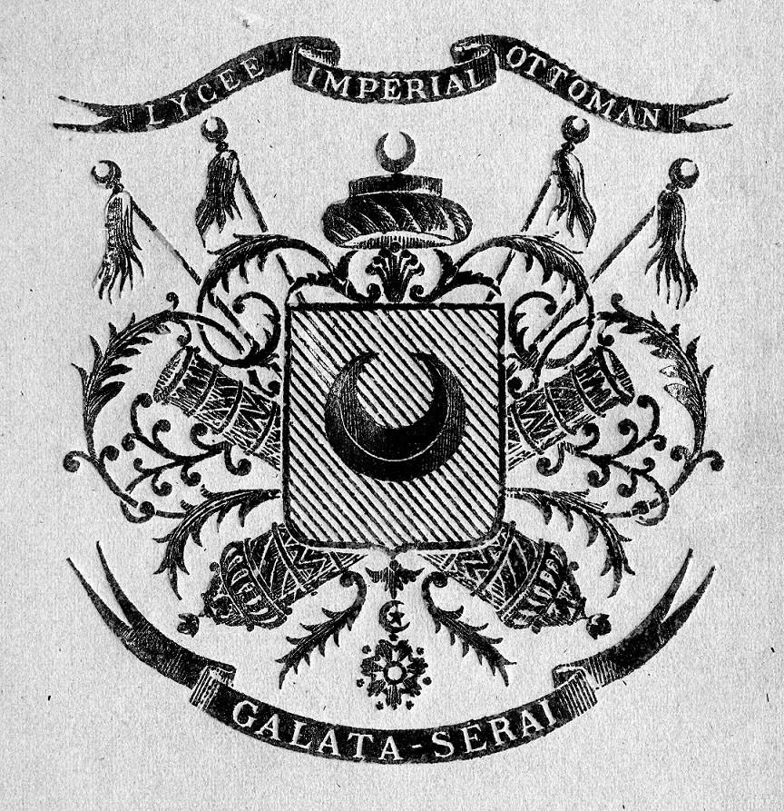 Okulun logosu Osmanlı'dan izler taşıyor.