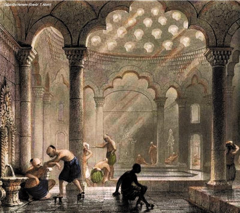 (Halkın temizlik ihtiyacını gidermek için 1'inci Mahmut tarafında  Yerebatan Caddesi'nde yapılan Coğaloğlu Hamamı-1741) 17'NCİ YÜZYILDA AVRUPA'DA YAŞANAN SALGININ SONUÇLARI YIKICI OLDU 17'nci yüzyılda Avrupa'da etkili olan veba salgını, binlerce insanın ölmesine ve nerede ise hayatın durmasına neden oldu.  1750'DEKİ SALGINI EVLİYA ÇELEBİ, ESERİNDE ANLATTI Evliya Çelebi, Seyahatnamesindeki notları arasında 1750 yılında 3 ay boyunca İstanbul'da veba salgınından, günde yaklaşık 1.000-1.200 kişinin hayatını kaybettiği yazdı.