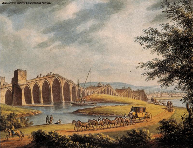 (Büyükçekmece Köprüsü-1770) 6 YIL SÜREN VEBA SALGINI 1778'DE BİTTİ İstanbul'da 1773'ten 1778'e kadar süren veba salgını 6 yıl yaşandı. Salgından kaçmak isteyen, Galata ve Pera'da yaşayan Avrupalı birçok tüccar ve diplomat Büyükdere ve Tarabya gibi Boğaziçi köylerine sığınarak kendilerini korumaya çalıştı.   O yıllarda İstanbul'da etkili olan bu saygın o kadar kuvvetliydi ki aynı zamanda Edirne, Bursa ve Selanik'te de yaşandı.