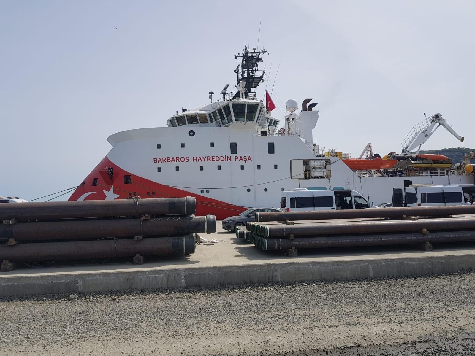 Barbaros Hayreddin Paşa sismik araştırma gemisi Filyos Limanı'na ulaştı