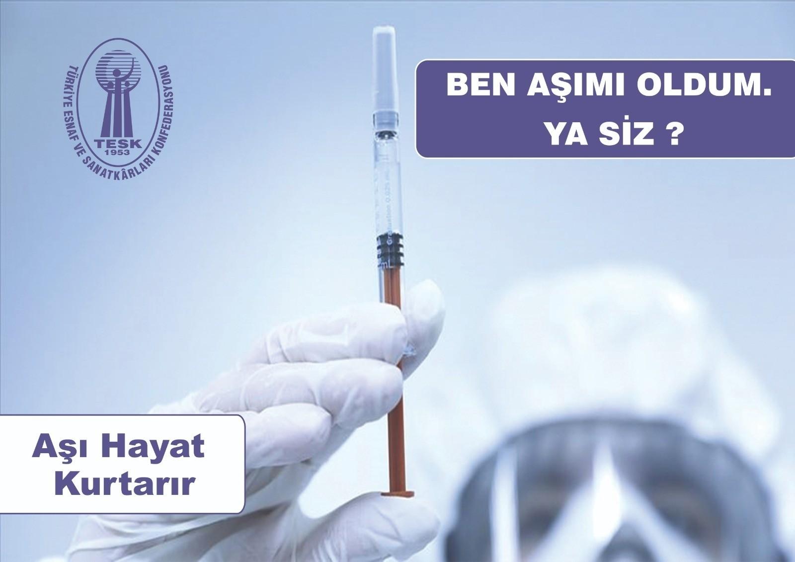 TESK'ten aşı için farkındalık kampanyası
