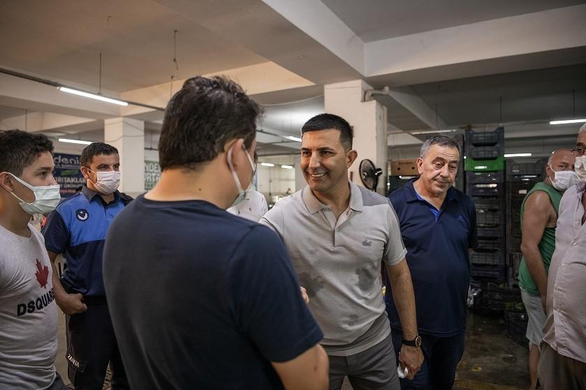 Başkan Günel, Pazar Yeri ve Otogar esnafı ile bayramlaştı