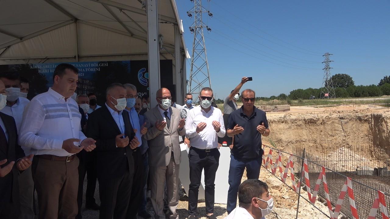 Kırklareli OSB idari binasının temeli törenle atıldı