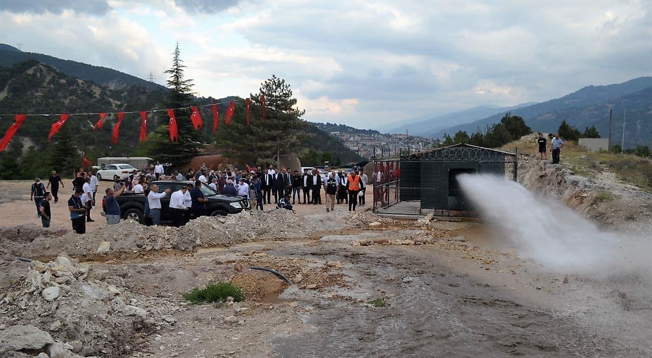 Tokat'ta jeotermal sondajında yeni bir kaynak bulundu
